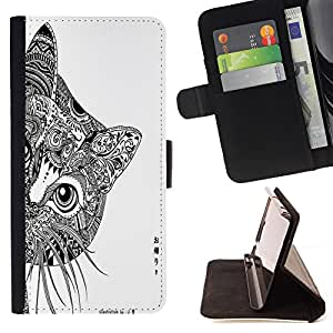 - Cat Cartoon Cute - - Wallet Pu Leather Credit Card Holder Pouch Case Cover FOR Samsung Galaxy S3 III I9300 Retro Candy