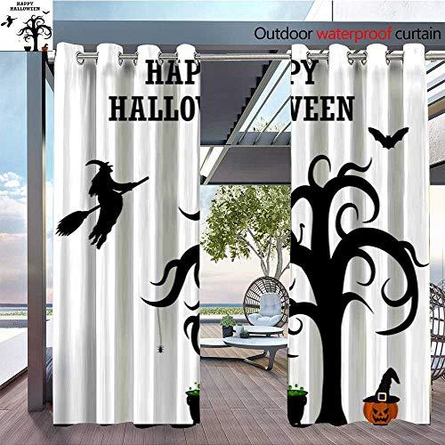 QianHe Dance Outdoor Indoor Curtain - Halloween-Patty-Silhouettes.jpg Waterproof