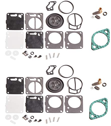 Dual Carb Rebuild kit With Needle Seat & Base Gaskets Sea Doo SPX 93 94 95