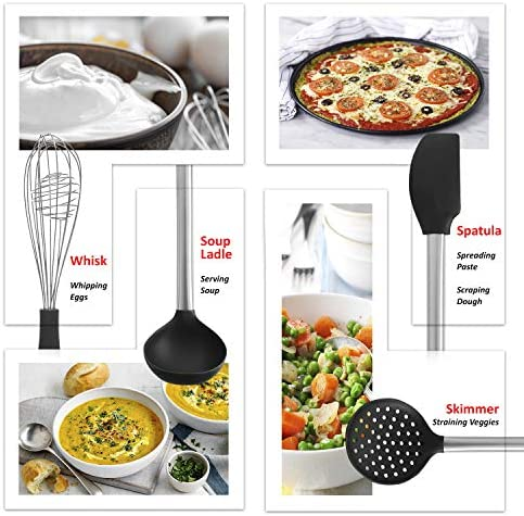 Customer Notification Kitchen Utensil Set With Holder 8