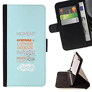 Momo Phone Case / Flip Funda de Cuero Case Cover - ALMUERZO TIPOGRAFÍA - LG Nexus 5 D820 D821