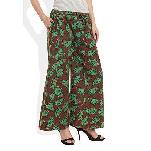 ShalinIndia - Pantalón - para mujer BROWN Green