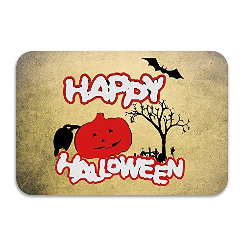 [Happy Halloween Doormat And Dog Mat ,40cm 60cm Non-slip Doormats,Suitable For Indoor Outdoor Bathroom Kitchen Doormat And] (Mohawk Halloween Costumes)
