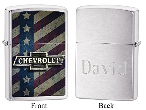Personalized Chevrolet American Zippo Lighter with Free Engraving