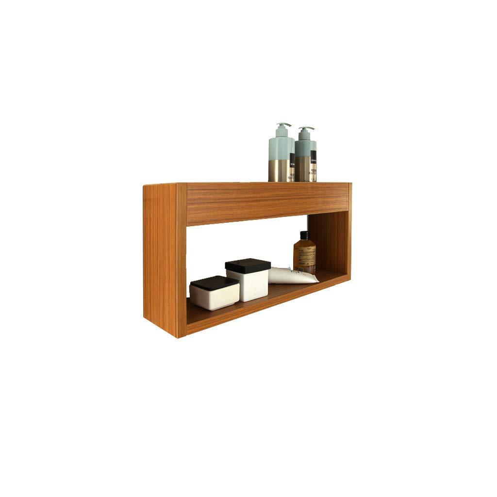 GFF Bathroom Racks Multi-Layer Solid Wood Bathroom Shelf, Bathroom Wall Hanging, Bathroom Bathroom Accessories(50  13.5  25cm)