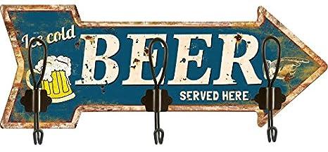 Solo Muebles Perchero de Cocina 3 Ganchos Beer Flecha ...