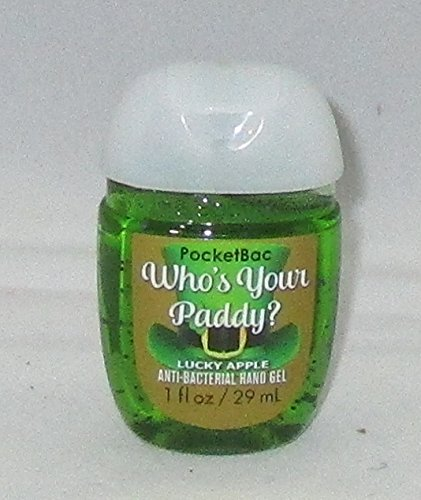 Bath & Body Works PocketBac Hand Gel Sanitizer Who's Your Paddy? Lucky Apple (Kiwi Pear Hand Soap)
