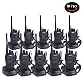 Walkie Talkies for Adults Rechargeable Wireless Long Range Two Way Radios with Earpiece and Charger Included(Pack of 10)