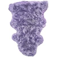 Lambland Hand Finished Genuine Large Sheepskin Rug / Skin / Pelt in Lilac
