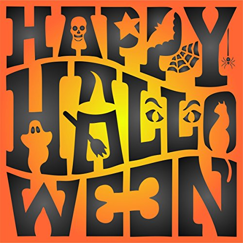 (Happy Halloween Sign Stencil - (size 5
