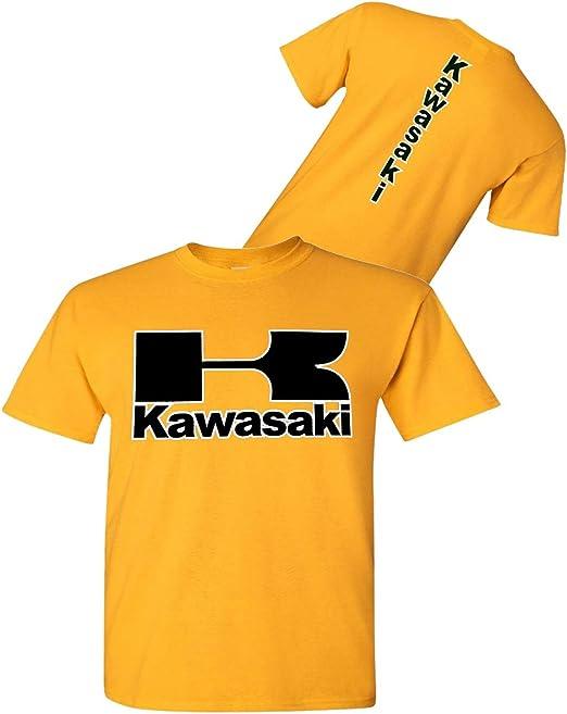 Kawasaki - Camiseta de Moto Dorada – Streetbikes Dirtbikes Ninja ...