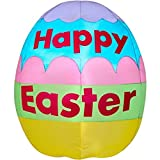 Easter Inflatable Colorful Happy Easter Egg By Gemmy