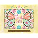 Butterfly Wings Thank You Cards [With 12 Envelopes]
