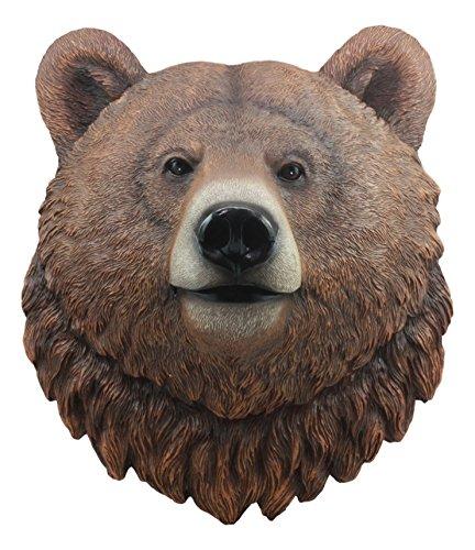 Bears Bear Head - Ebros Brutus Realistic Large Brown Grizzly Bear Head Wall Decor 3D Plaque 15.5