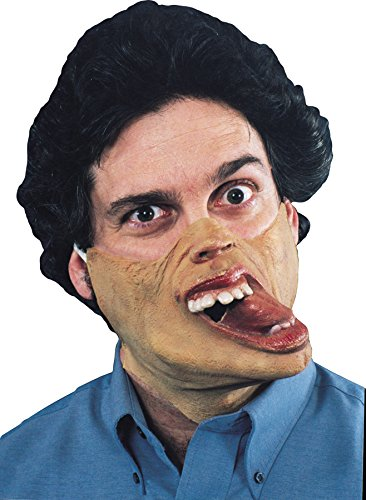 Tom Arma Adult's Droopy Jaw Freaky Half Style Latex Mask Halloween Costume Accessory ()
