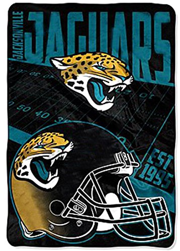 blanket throw XXL 62x90 Lightweight NFL Jags bedding (Northwest Jacksonville Jaguars Soft Blanket)
