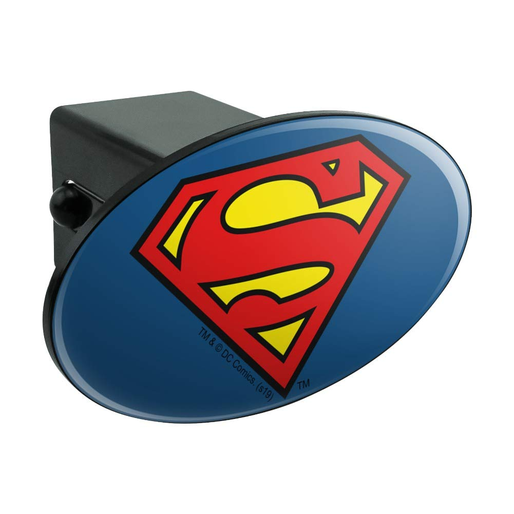 Graphics and More Superman Classic S Shield Logo Oval Tow Hitch Cover Trailer Plug Insert 2'' by Graphics and More