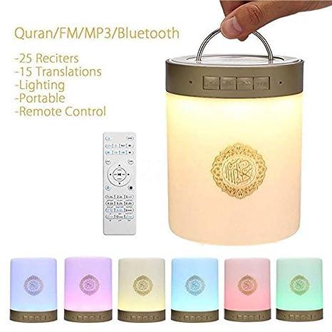 Amazon.com: WSMLA Quran Lámpara Táctil Portátil Altavoz ...