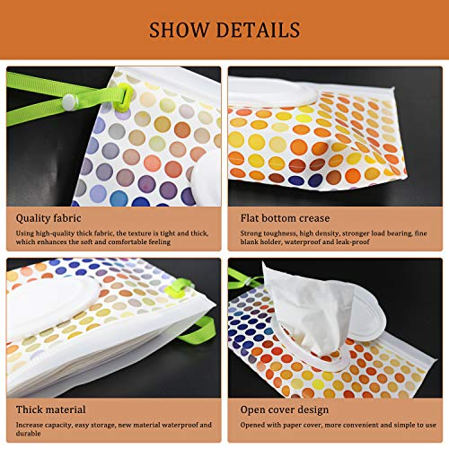 Reusable Wet Wipe Pouch [Set of 5] - Dispenser for Personal Wipes, Wipes Container Travel Cases