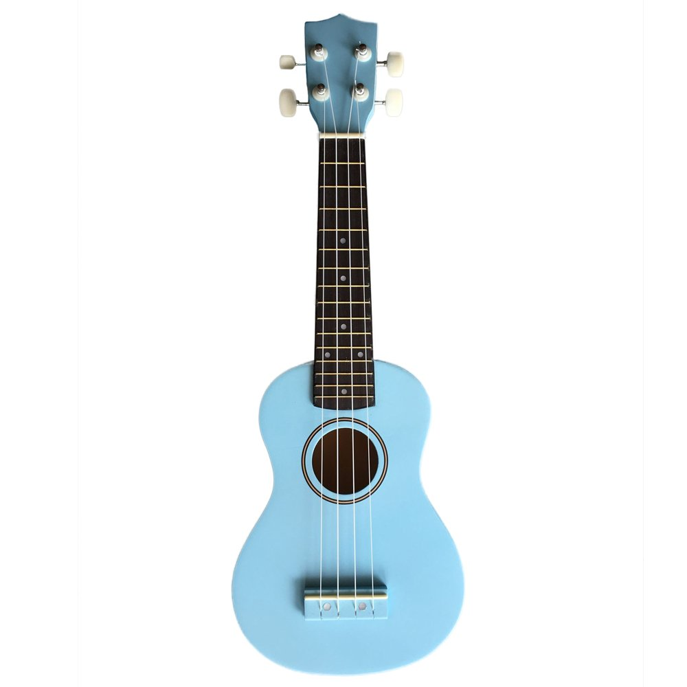 Zimo 21'' Acoustic Soprano 4 String Haiwan Ukulele Musical Instrument Uku Blue by Zimo®