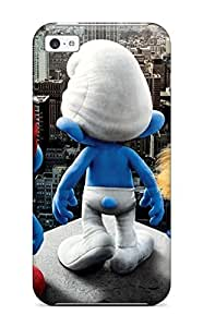 New CaseyKBrown Super Strong 2011 Smurfs Movie Tpu Case Cover For Iphone 5c