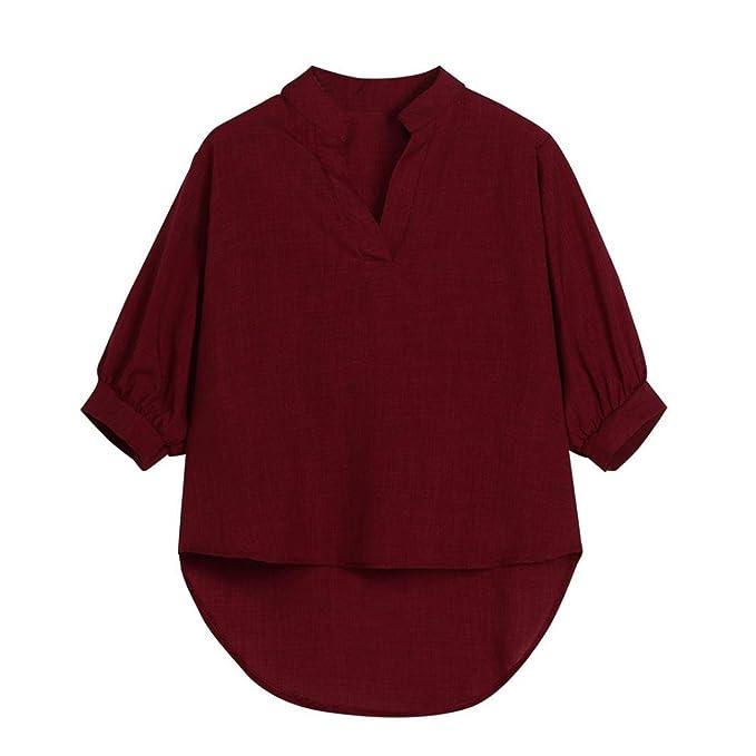 Happy-day Blusas Anchas,Tops Cortos Mujer,Camisas Mujer,Blusas Para Mujer