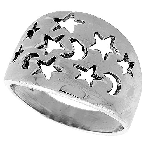 Sterling Silver Moons Stars...