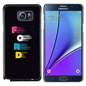 """Samsung Galaxy Note5 / N920 , JackGot - Impreso colorido protector duro espalda Funda piel de Shell (Cartas Rosa Azul Car Company Negro"""")"""
