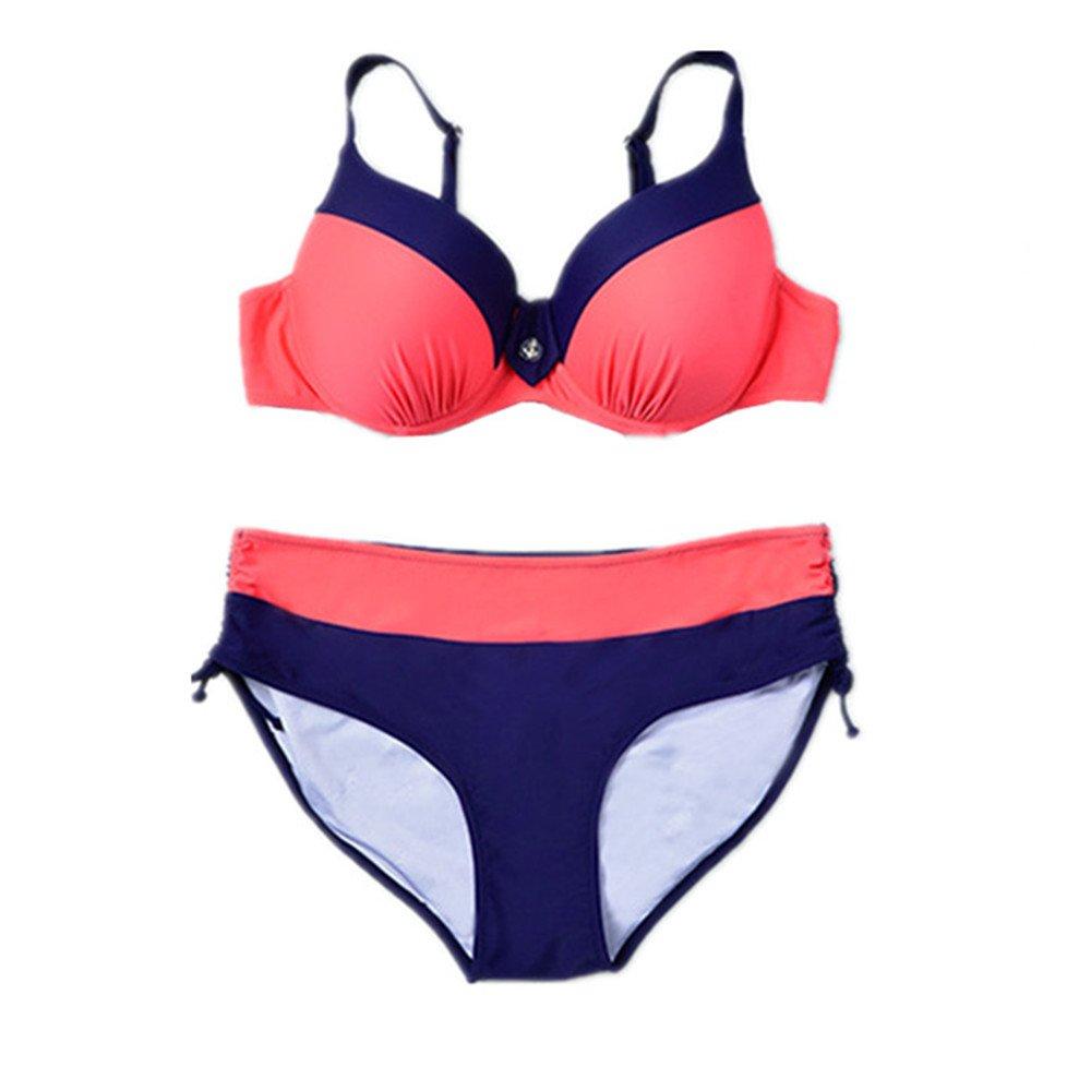 女性の 水着 エクササイズ 分割 ビキニ ビーチ バケーション水着 に適して 水泳 ウェディング エクササイズ スパ (Color : Orange, Size : 5XL) B07DYRDMGS 5XL|Orange