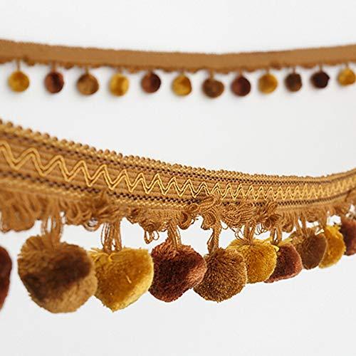Wildgirl DIY Curtain Accessories Pom Pom Trim Pompon Fringe Braided Gimp 1m (# 3)