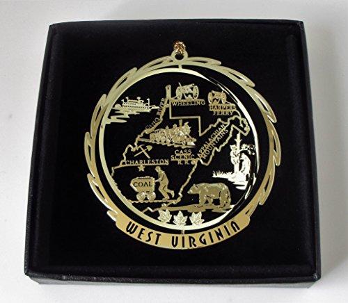 Brass Ornament Black Leatherette Gift Box ()