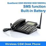 Evangel SIM Card GSM Fixed Wireless Desktop Telephone Phone with SMS Function