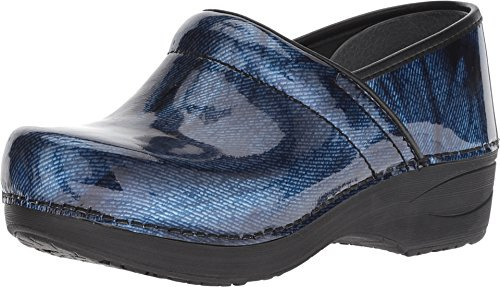 Polished Frame Gray - Dansko Women's XP 2.0 Denim Patent 40 Regular EU