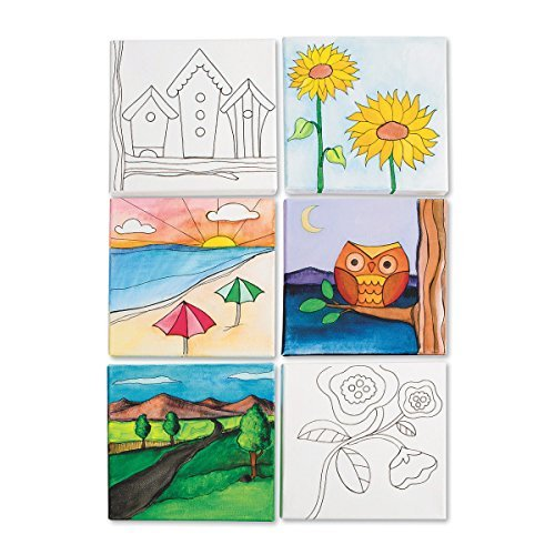 Designer Canvas Board Set II (Best Kind Of Paint For Canvas)