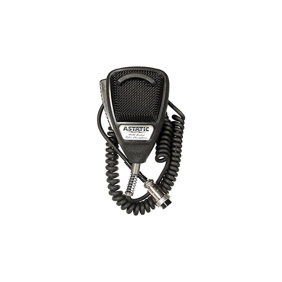 Astatic 302 636LB1 Black Noise Cancelling 4 Pin CB Microphone (Bulk)