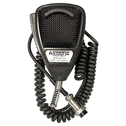 Astatic 302-636LB1 Black Noise Cancelling 4 Pin CB Microphone (Bulk) by Astatic