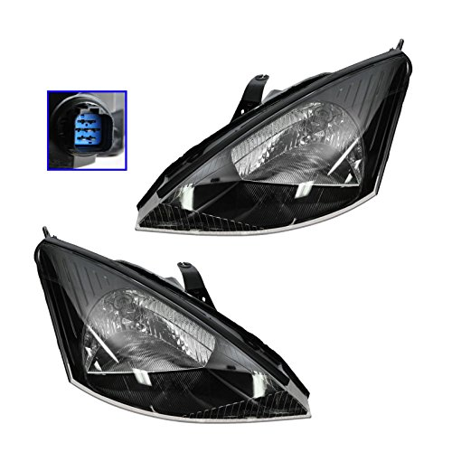 Svt Focus Headlights - Headlights Headlamps Pair Set for 02-04 Ford Focus SVT