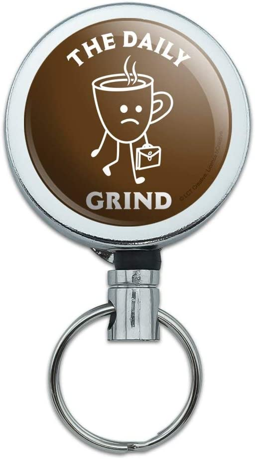 Coffee All Day Every Day Funny Humor Lanyard Reel Badge ID Card Holder