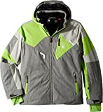 Spyder Kids Boy's Leader Jacket (Big Kids) Polar Herringbone/Limestone/Fresh 8
