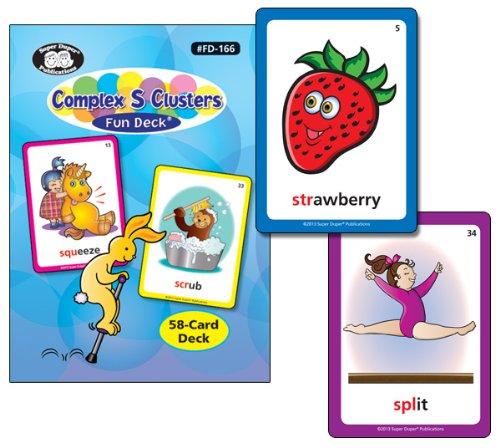 Super Duper Publications Complex S Clusters Sounds Fun Deck Flash Cards Educational Learning Resource for Children by Super Duper Publications