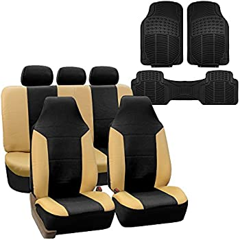 Clazzio 305511blkk Black Leather Front Row Seat Cover for Honda Accord 2 Door LX-S//EX