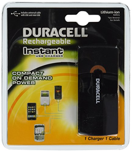 (Duracell Instant USB Charger/Includes Universal Cable with USB & mini USB, 1 Count)