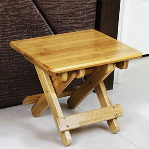 折り畳みスツール自然な竹の木の家アダルトアウトドアキャンプピクニックポータブル折り畳み式釣りスツール (Size : L25*W20.5*H20cm)