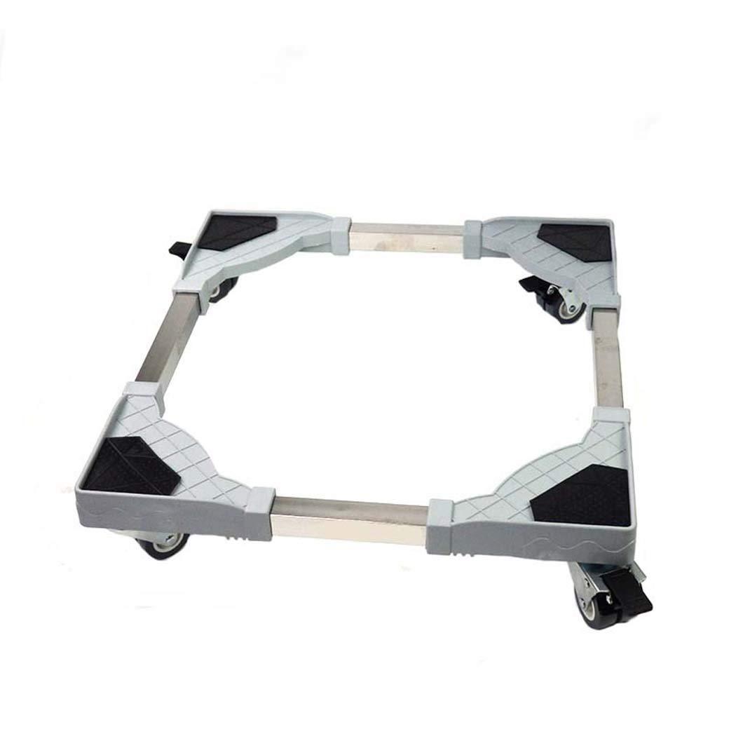 DSHBB Washing Machine Base, Universal Multi-functional Adjustable Base Casters, Stainless Steel Bracket Washing Machine Pedestal Fridge Base Rack