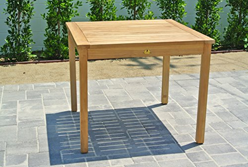 Willow creek designs teak square dining table 36 w x 36 for Willow creek designs