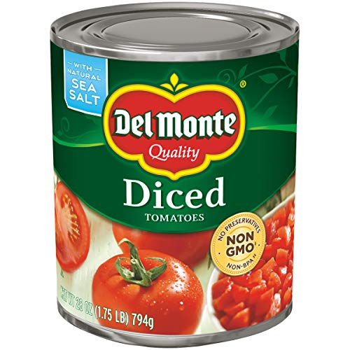 Del Monte Diced Tomatoes, 28 Ounce (Pack of 6)