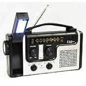 topAlert Emergency Solar Hand Crank Dynamo AM/FM/NOAA Weather Radio Flashlight Reading LED Light Cell Phone...
