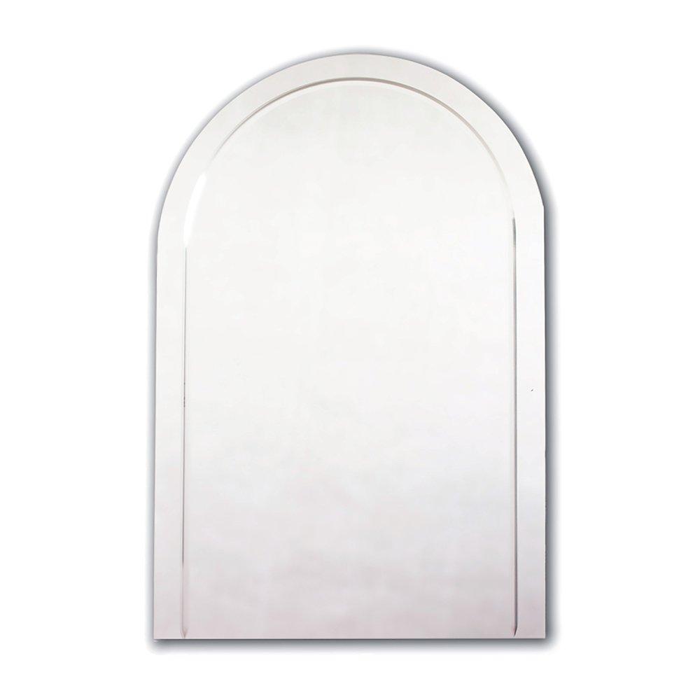 Crystal Cut Arched Mirror 600mm X 400mm By JL Bathrooms