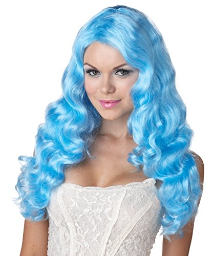 Sweet Tart Costume (California Costumes Women's Sweet Tart Wig Long Anime Lolita Fairytale Style, Aqua, One)