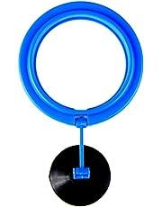 Toruiwa 1x Fish feeder quadrato cerchio anello galleggiante in plastica con ventosa per acquario accessori
